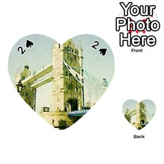 Watercolors, London Tower Bridge Playing Cards 54 (heart)