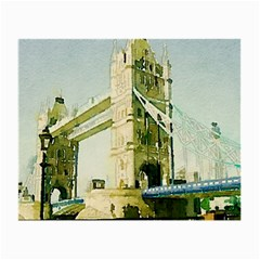 Watercolors, London Tower Bridge Small Glasses Cloth (2 Side) by MoreColorsinLife