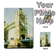 Watercolors, London Tower Bridge Multi Purpose Cards (rectangle)