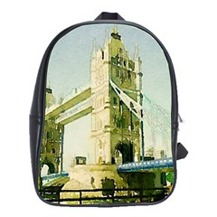 Watercolors, London Tower Bridge School Bags(large)  by MoreColorsinLife