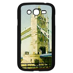 Watercolors, London Tower Bridge Samsung Galaxy Grand Duos I9082 Case (black) by MoreColorsinLife