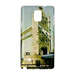 Watercolors, London Tower Bridge Samsung Galaxy Note 4 Hardshell Case by MoreColorsinLife