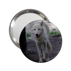White Wolf 2.25  Handbag Mirrors by MoreColorsinLife