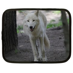 White Wolf Netbook Case (large)	 by MoreColorsinLife