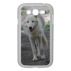 White Wolf Samsung Galaxy Grand Duos I9082 Case (white) by MoreColorsinLife