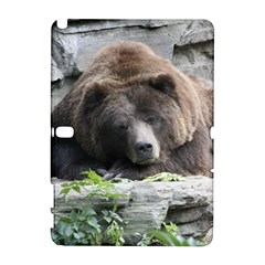 Tired Bear Samsung Galaxy Note 10 1 (p600) Hardshell Case by MoreColorsinLife
