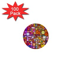 Circles City 1  Mini Buttons (100 Pack)  by KirstenStar