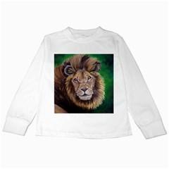 Lion Kids Long Sleeve T-Shirts by ArtByThree