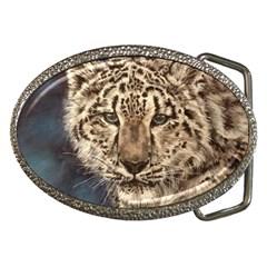 Snow Leopard Belt Buckles by ArtByThree