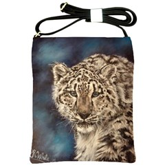 Snow Leopard Shoulder Sling Bags by ArtByThree