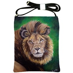 Lion Shoulder Sling Bags by ArtByThree