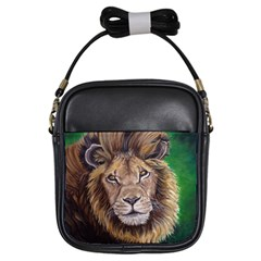 Lion Girls Sling Bags by ArtByThree