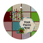 Christmas Dazzle 1 - Round Ornament (Two Sides)