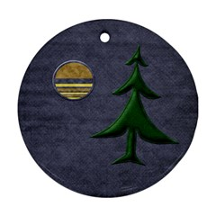 Lone Star Holiday 1 By Lisa Minor   Round Ornament (two Sides)   4ja6yx6pepkz   Www Artscow Com Back
