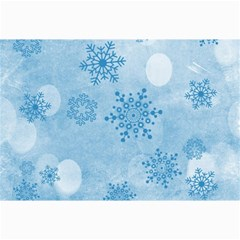 Winter Bokeh Blue Collage 12  X 18  by MoreColorsinLife