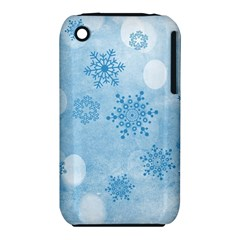 Winter Bokeh Blue Apple iPhone 3G/3GS Hardshell Case (PC+Silicone) by MoreColorsinLife