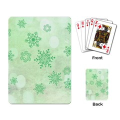 Winter Bokeh Green Playing Card by MoreColorsinLife