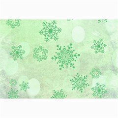 Winter Bokeh Green Collage 12  X 18  by MoreColorsinLife