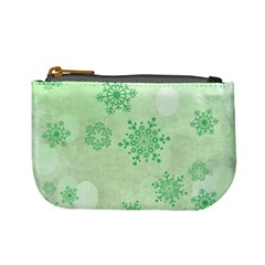 Winter Bokeh Green Mini Coin Purses by MoreColorsinLife