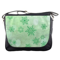 Winter Bokeh Green Messenger Bags by MoreColorsinLife