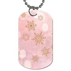 Winter Bokeh Pink Dog Tag (two Sides) by MoreColorsinLife