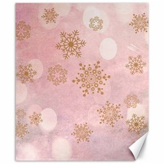 Winter Bokeh Pink Canvas 8  X 10  by MoreColorsinLife
