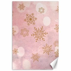 Winter Bokeh Pink Canvas 20  X 30   by MoreColorsinLife
