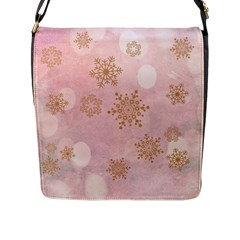 Winter Bokeh Pink Flap Messenger Bag (l)  by MoreColorsinLife