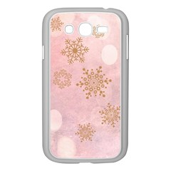 Winter Bokeh Pink Samsung Galaxy Grand Duos I9082 Case (white) by MoreColorsinLife