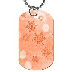 Winter Bokeh Red Dog Tag (two Sides) by MoreColorsinLife