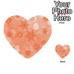 Winter Bokeh Red Multi Purpose Cards (heart)  by MoreColorsinLife