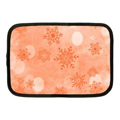 Winter Bokeh Red Netbook Case (medium)  by MoreColorsinLife