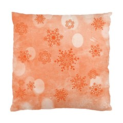 Winter Bokeh Red Standard Cushion Case (one Side)  by MoreColorsinLife