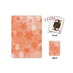 Winter Bokeh Red Playing Cards (mini)  by MoreColorsinLife