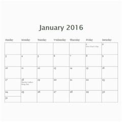2016 Cal By Jj   Wall Calendar 11  X 8 5  (12 Months)   5y56o15w0vgp   Www Artscow Com Jan 2016