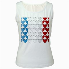 France Hearts Flag Women s Tank Tops by theimagezone