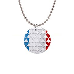 France Hearts Flag Button Necklaces by theimagezone