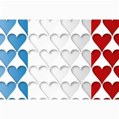 France Hearts Flag Collage 12  X 18  by theimagezone