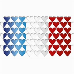 France Hearts Flag Collage 12  X 18