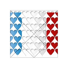 France Hearts Flag Acrylic Tangram Puzzle (4  x 4 ) by theimagezone