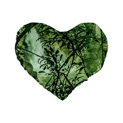 Jungle View At Iguazu National Park Standard 16  Premium Heart Shape Cushions by dflcprints