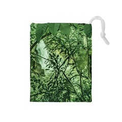 Jungle View At Iguazu National Park Drawstring Pouches (medium)