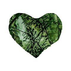 Jungle View At Iguazu National Park Standard 16  Premium Flano Heart Shape Cushions by dflcprints