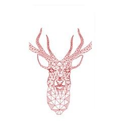 Modern Red Geometric Christmas Deer Illustration Memory Card Reader by Dushan