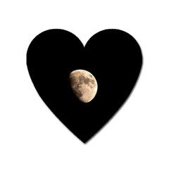 Half Moon Heart Magnet by timelessartoncanvas
