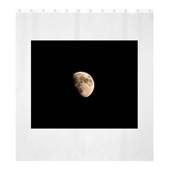 Half Moon Shower Curtain 66  X 72  (large)  by timelessartoncanvas