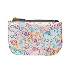 Cute Pastel Tones Elephant Pattern Mini Coin Purses by Dushan