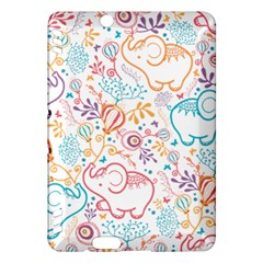 Cute pastel tones elephant pattern Kindle Fire HDX Hardshell Case by Dushan