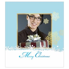 Xmas By Angena Jolin   Drawstring Pouch (medium)   Q1glkyby089r   Www Artscow Com Back