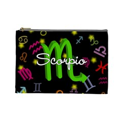 Scorpio Floating Zodiac Name Cosmetic Bag (large)  by theimagezone